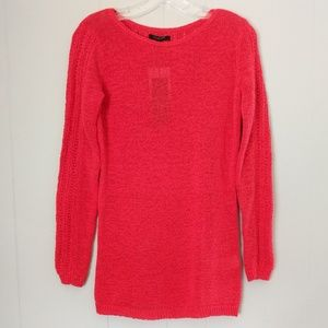 Rachel Zoe Long Sleeves Red Knit Top Size Small